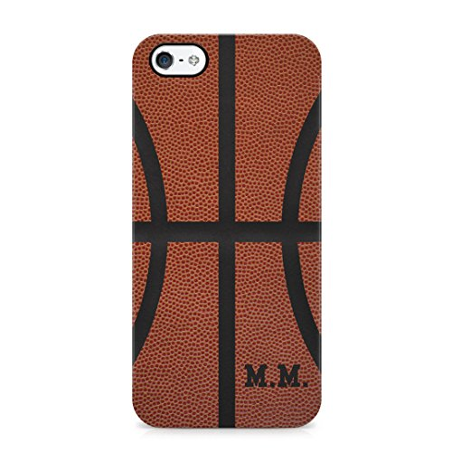 Basketball Ball Personalised Customizable Custom Name Initial Text Create Your Own Gift Present Schutzhülle aus Hartplastik Handy Hülle für iPhone 5 / iPhone 5s / iPhone SE Case Hard Cover