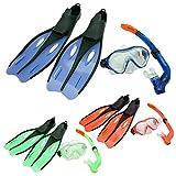 Profi Schnorchel Set DUNLOP Schwimmflossen Taucherbrille Tauchmaske Kinder Jugend Erwachsene Größe 32-42