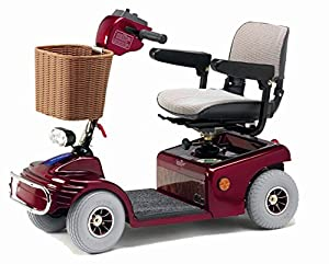 Roma Medical (Shoprider) Sovereign 4 Class 2 Mobility Scooter - Metallic Red
