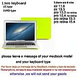 Nuevo dulce color carcasa rígida de goma carcasa para MacBook Pro A1278de 13/Pro 15A1286/Air A1466/Air 11A1465/Retina 13A1502/Retina 15A1398. Amarillo.
