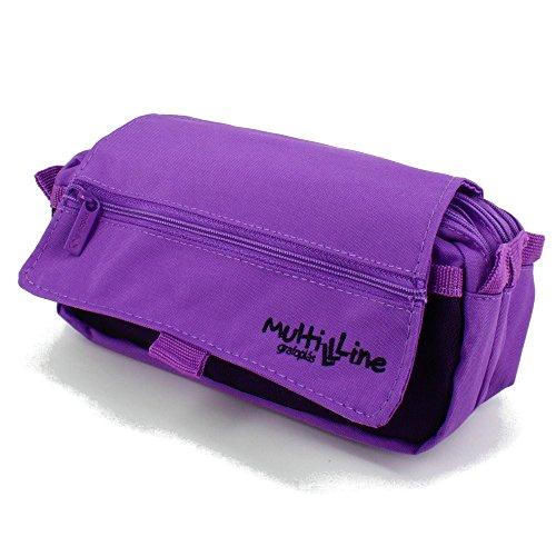 Grafoplás 37540335-Estuche escolar triple Multiline color violeta