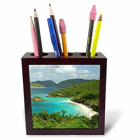 3dRose ph_70005_1 USVI St. John Trunk Bay Virgin Islands Cindy Miller Hopkins Tile Pen Holder,