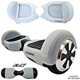 SILISKINZ 360 GRADO CUSTODIA PER GELATINA IN SILICONE Hoverboard per 6.5 'Swegway 2 Wheel Smart Scooter (TRASPARENTE)