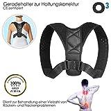 Купить O³ Posture Corrector for Women and Men // Hohlkreuz - Geradehalter zur Haltungskorrektur // Gesunde & aufrechte Haltung // Anpassbare Länge // CE-Zertifiziert