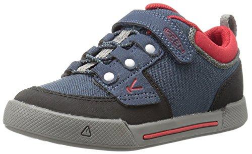 Keen Sneaker Kinder-Schuhe Encanto Wesley Halbschuh in grau Midnight Navy/Formula One