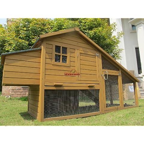 Chicken Coops Imperial® Sandringham Pollaio Gabbia Stia per Pollo Conigliera (grande) 223cm. Adatta per 4-8 Uccelli. Recinto, Ripiano per la Pulitura e Meccanismo di Chiusura Innovativo Compreso!