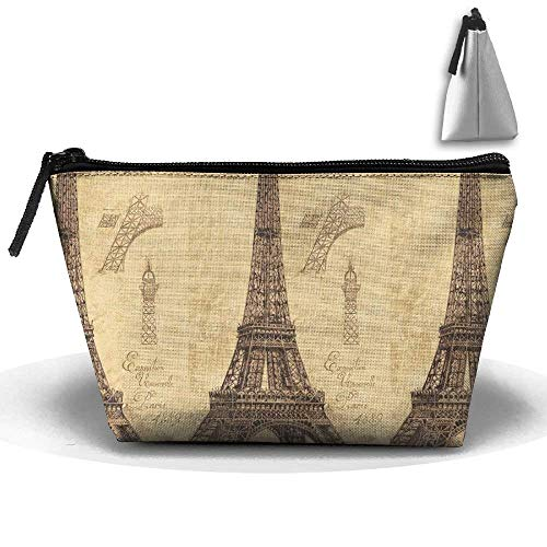 Women Girl Vintage Eiffel Tower Paris Toiletry Bag/Makeup Organizer/Cosmetic Bag/Portable Travel Kit Organizer/Household Storage Pack/Bathroom Storage for Business, Vacation, Household -