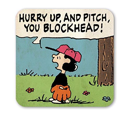 Peanuts Untersetzer - Lucy - Hurry Up - farbig - Lizenziertes Originaldesign - LOGOSHIRT (Peanuts Lucy Den Von)