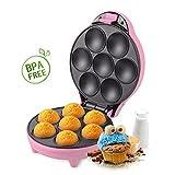 immagine prodotto Aigostar Popcaker Pink 30CEU - Macchina per Cupcake/Muffin con 7 fori, 700 Watt, Piatti Antiaderenti. Design esclusivo.
