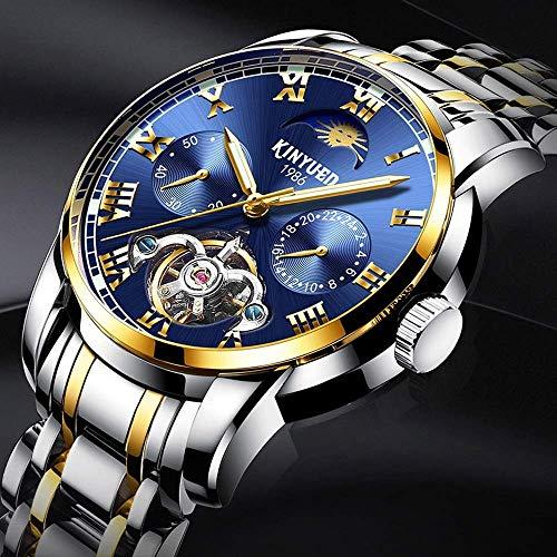 WATCH Armbanduhr, Quarzuhr, Wasserdicht Mechanisch Multifunktionales Geschäftsleben Wasserdicht Einfaches Luxusgefühl Schulbesuch Pendeln Mehrfarbige Armbanduhr,Silber frei
