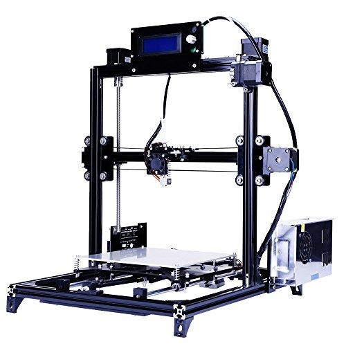Prusa i3 3d Drucker DIY Kit RepRap Auto Nivellierung mit großen 3D Druck Größe Hohe Genauigkeit und Stabilität Beheiztes Bett LCD Display (schwarz) -