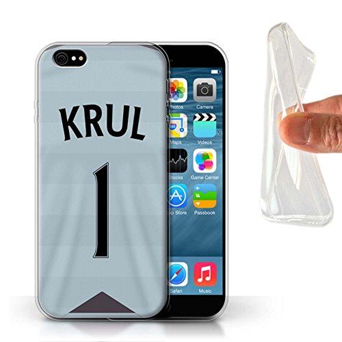 Offiziell Newcastle United FC Hülle / Gel TPU Case für Apple iPhone 6S / Pack 29pcs Muster / NUFC Trikot Away 15/16 Kollektion Krul
