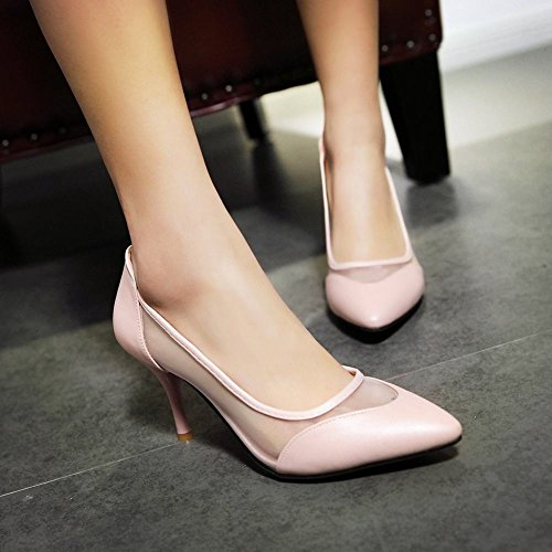 MissSaSa Donna Sottile col Tacco Alto Piede Pumps Elegante Rosa