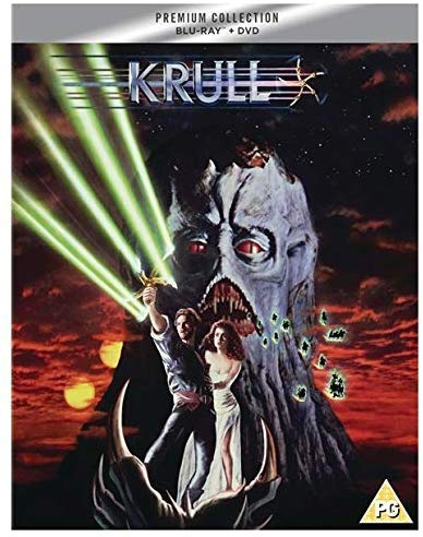 Krull Slipcased Edition Blu Ray / Import / Includes DVD / Poster / Art Cards.