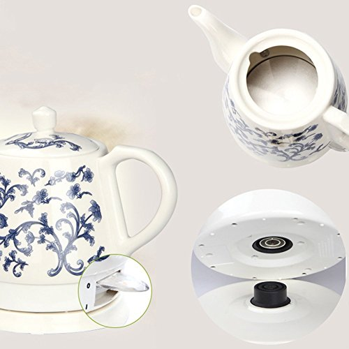BCQ Ceramic Electric Kettle China Blue and White Porcelain Energy Saving 1.2L 11 * 14 * 19Cm Electric Kettles