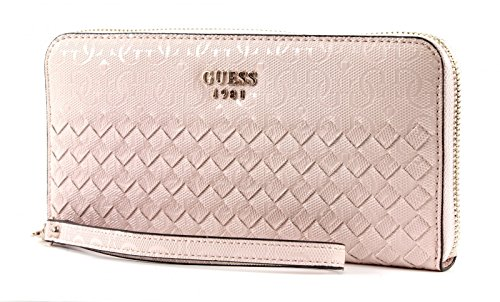 GUESS Flutter SLG Large Zip Around Blush