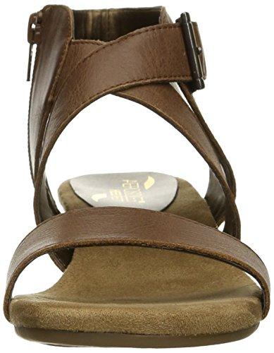 Aerosoles Propryetor Cuir Sandales Compensés Dark Tan