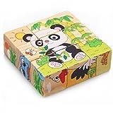 babyGreen Hölzern Würfel Block Puzzle Puzzles Früh Lehrreich Spielzeuge für Babys Oder Kinder