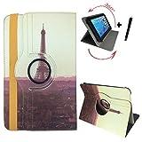 Aldi - MEDION LIFETAB P10400 (MD 99775) - 10.1 Zoll Drehbare Tablet Schutztasche mit Standfunktion + Touch Pen - 10 Zoll Paris Sonnenuntergang 360_