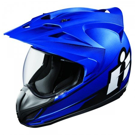 CASQUE ICON -VARIANT DOUBLE STACK BLEU 57/58 M-