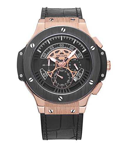 Megir-Chronograph-Uhr-Männer-berühmte Marken-Uhr-Armee-Sport-Mann-Mann-Armbanduhr