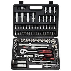 KS Tools 911.0694 Coffret de douilles F6 1/4»-1/2» CHROMEmat 94 pièces pas cher