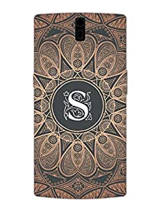 OnePlus 1 Back Cover - Initial S - Classy And Personalised - Designer Printed Hard Shell Case