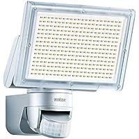 Steinel 582319 Faro LED per Esterni con Sensore a Raggi Infrarossi XLED Home 3 Argento, IP  44, Potenza Energetica 18W, 330 LED, Efficienza Luminosa di 1426 Lumen, Sistema di Raffreddamento LED Brevettato da Steinel
