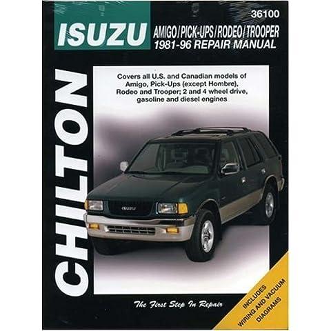 Isuzu Amigo/ Pick-ups/ Rodeo/ Trooper Repair Manual (1981-96) (Chilton Total Car Care) by Christopher G. Ritchie (1999-08-25)