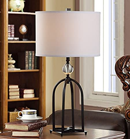 LXSEHN lampe de table Vintage Cristal Fer Creative Chambre Simple chevet salon européen Table Lamp décoration Lampes de nuit Lampes de table Lumières