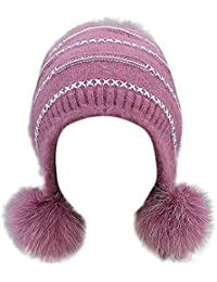 a77cbfccde82 Jimma Bonnet,Cache-Oreilles d hiver pour Hommes Femmes Adultes en Tricot  Bonnet
