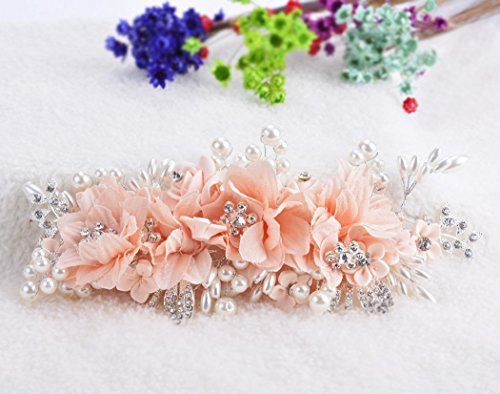 Fascigirl De mariée Fleurs Barrette Chapeau Accessoires Cheveux pour les femmes de soirée Mariage Rose