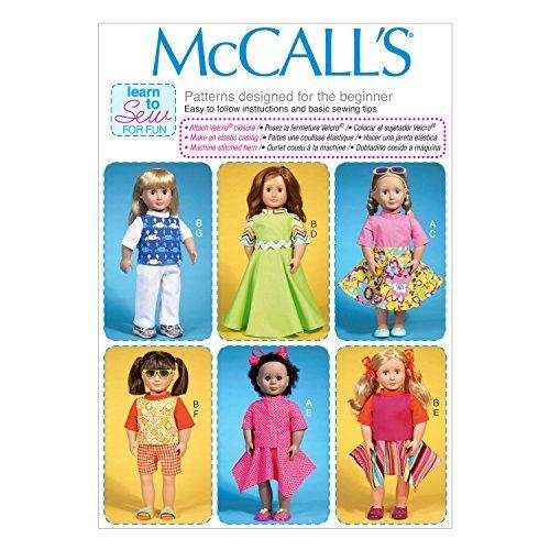 McCall Pattern Company M7106 - Cartamodello per Vestiti per Bambole da 45,7 cm, Taglia Unica da McCall Pattern Company