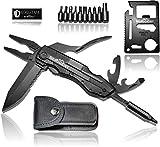 BERGGEIST® Multi-Tool Survival Taschenmesser Set aus Edelstahl | Klappmesser & Zange | Inklusive EDC Kreditkartenmesser | [2020]
