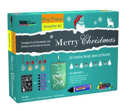 Unbekannt Hobby Line 49751 - Pic Tixx Kerzenpen Set Merry Christmas