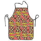 ZKM Porter Cute Feed Me Love Pizza Adjustable Bib Chef Schürze Home Kitchen Schürze for Baking Easy Care