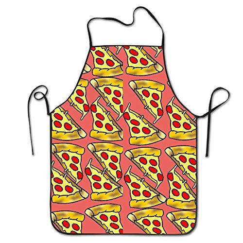 best pillow Cute Feed Me Love Pizza Adjustable Bib Chef Apron Home Kitchen Apron for Baking Easy Care -