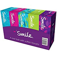 ‏‪Smile Facial Tissues - Pack of 5 Boxes, 150 Sheets x 2 Ply‬‏