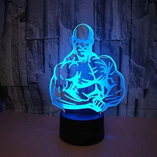 3d bodybuilding night light lamp 7 cambiamento di colore led usb touch table gift kids toys decor decorazioni di natale regalo di san valentino regalo di compleanno