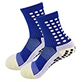 MultiWare 1 Paire Chaussettes de Football Antidérapantes Trusox Tocksox Style Antidérapant Chaussettes de Sport Antidérapantes Chaussettes de Basket-Ball Football Randonnée