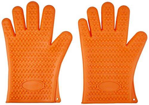 AmazonBasics - Grill-Handschuhe, Silikon, 1 Paar - Silikon-grillen-handschuhe