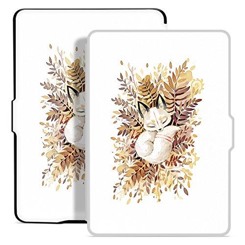 Ayotu Hülle für Kindle Paperwhite-Case Cover Mit Auto Sleep/Wake für Amazon Kindle Paperwhite 2012/2013/2016/2015 3.Generation(Nicht geeignet für Das Modell der 10. Generation 2018) The Sleeping Fox
