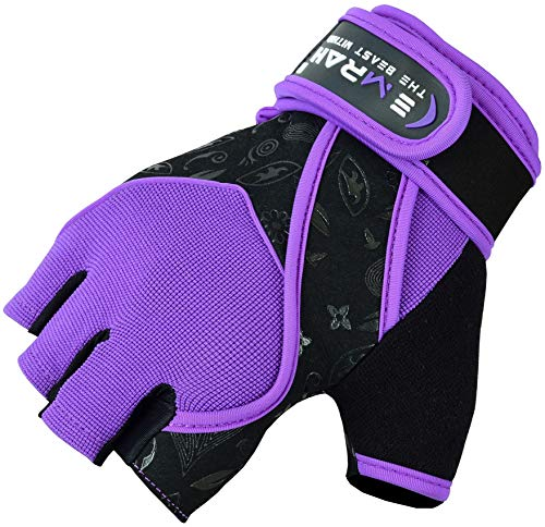 EMRAH-Gym-Weight-Lifting-Gloves-Women-Workout-Fitness-Ladies-Bodybuilding-Crossfit-Breathable-Powerlifting-Wrist-Support-Strength-Training-Exercise-Purple-Medium