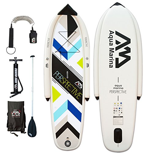 SUP Aqua Marina Perspective Stand Up Paddle Board inkl. Pumpe, Paddel, Leash, Tasche