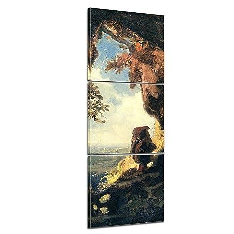 Bilderdepot24 toile déco imprimée - tableau toile Panorama Carl Spitzweg - Vieux Maître Art Peinture