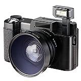 Besteker Digitalkamera Camcorder Full HD 1080p 24.0MP 3,0-Zoll LCD Mini Video Camcorder mit Makro Objektiv und Blitzlicht