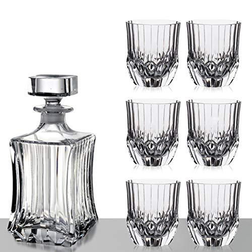 Carafe De Décantation Dekanter Kristallglas Whisky Glas Geist Glas Glas Weinglas Geschenkbox Wein Set, 1 Flasche + 6 Weinglas Set