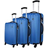 Best Luggage Sets - Nasher Miles Blue ABS Hard Luggage Set of Review