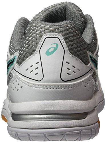 Asics Gel-Rocket 7, Chaussures de Volleyball Femme Blanc (White/Black/Cockatoo)