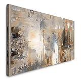 Paul Sinus Art GmbH Abstrakt 120x 50cm Panorama Leinwand Bild XXL Format Wandbilder Wohnzimmer Wohnung Deko Kunstdrucke